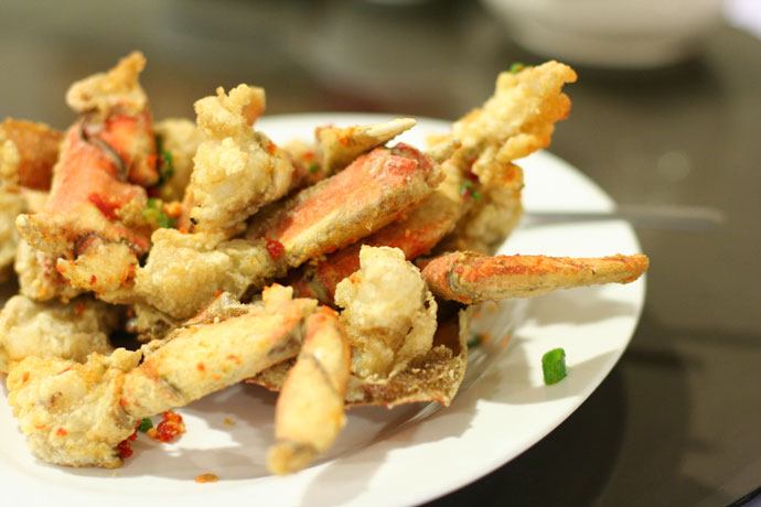 Salt and pepper spicy fried crab