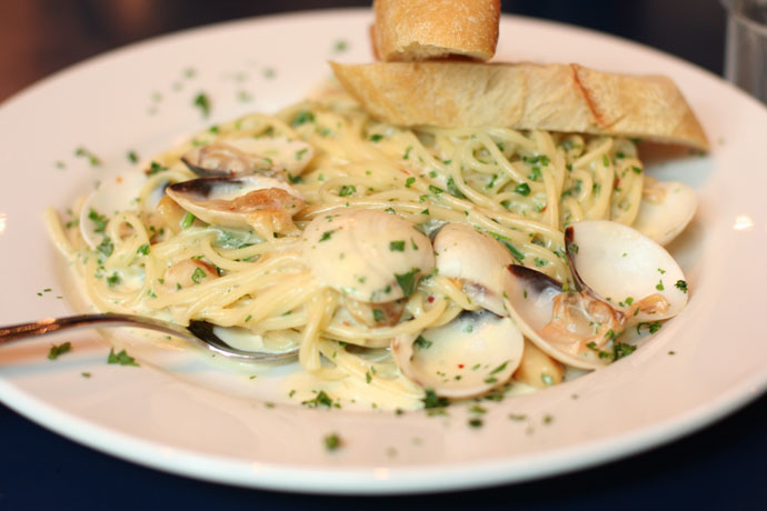 Clam Linguini at Zacharys on Robson