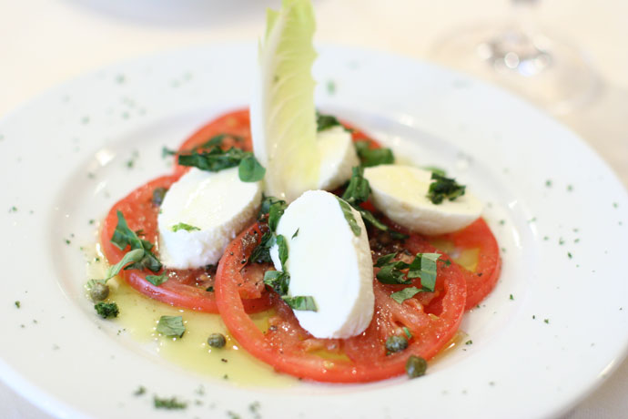 Tomato and Bocconcini salad with fresh basil