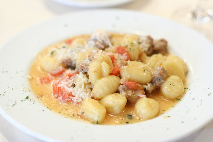 Gnocci pasta with Italian sausage