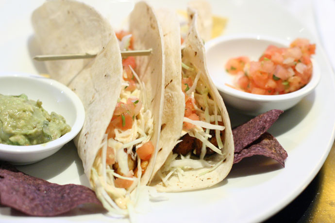 Soft fish tacos at Cactus Club