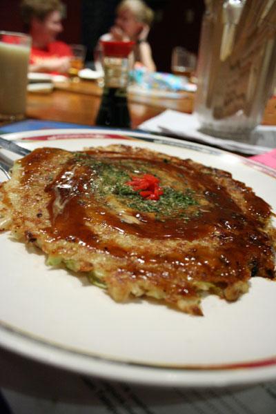 Okonomiyaki Japanese Pizza