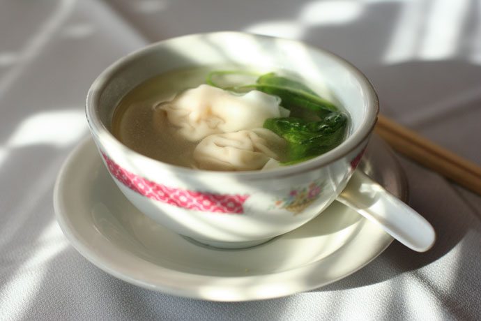 Won ton soup at East Garden restaurant