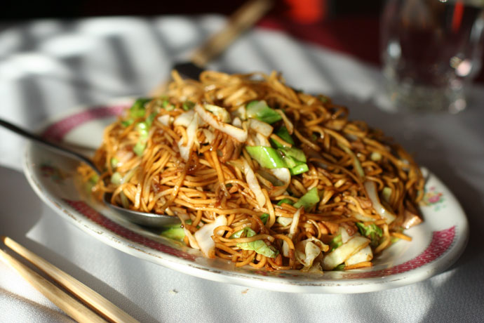 Chow Mein noodles from East Garden restaurant