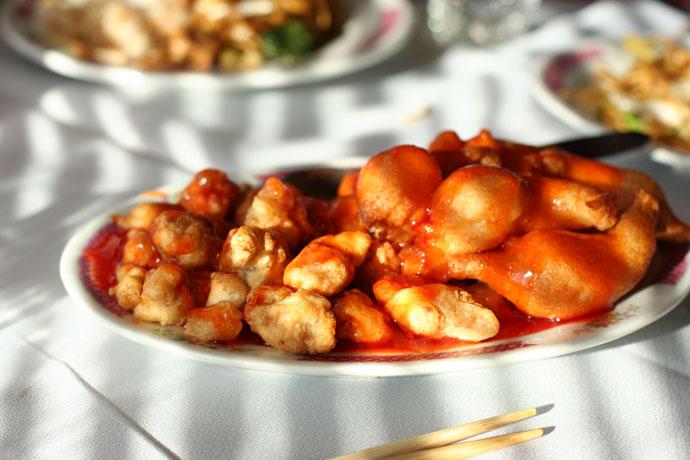Deep fried prawns and pork