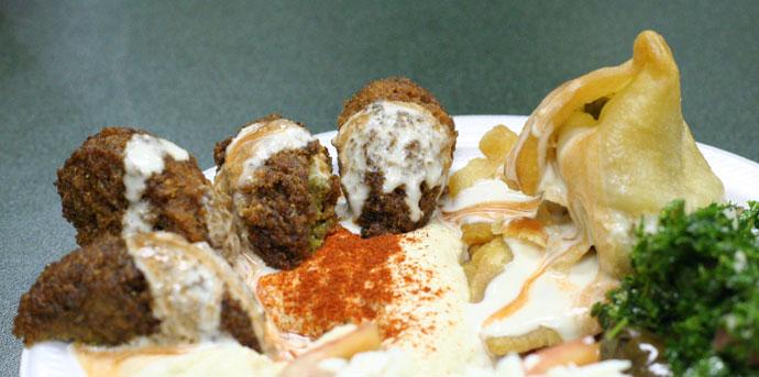 Falafel Plate Lebanese Food