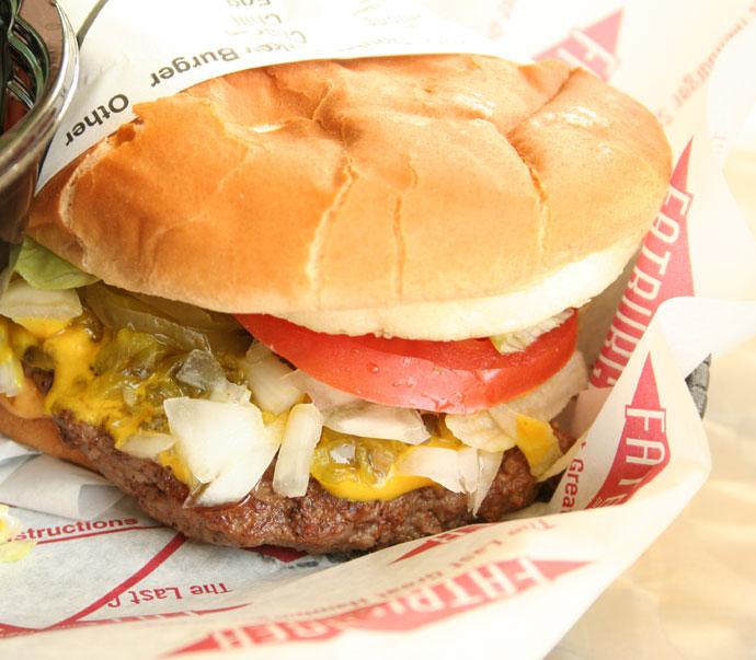 Hamburger at Fat Burger.