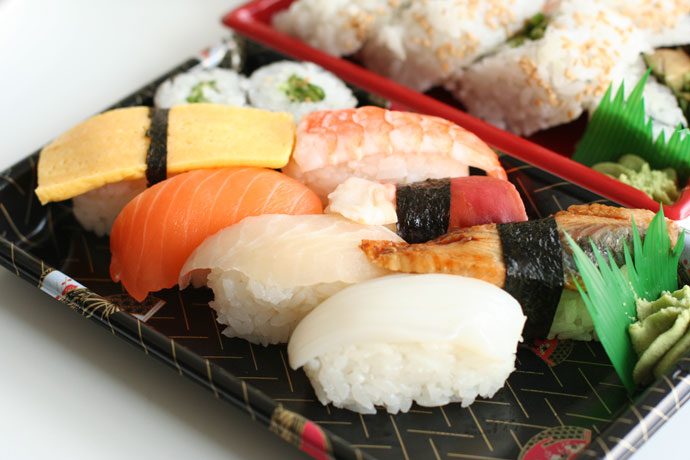 Assorted Nigiri Sushi (deluxe) - around $6