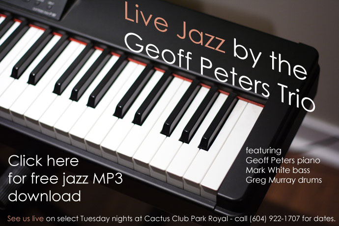 Geoff Peters Trio Live Jazz in Vancouver