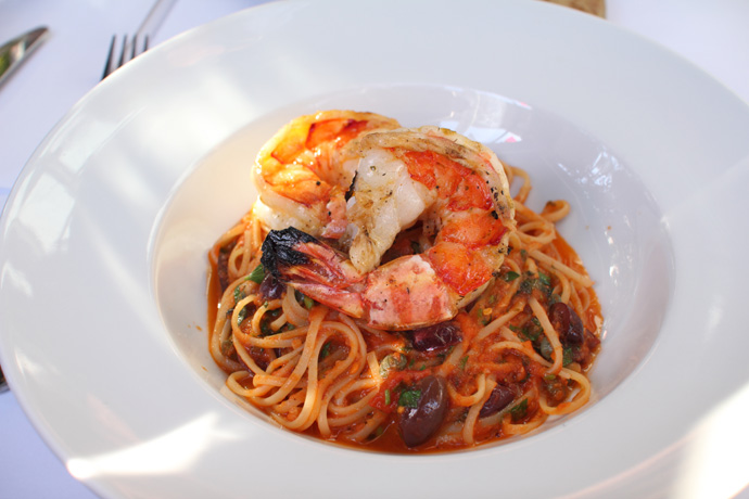 Delicious Prawn Linguine from Glowbal restaurant in Yaletown, Vancouver BC Canada.