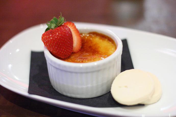 Creme Brulee for dessert ($8)