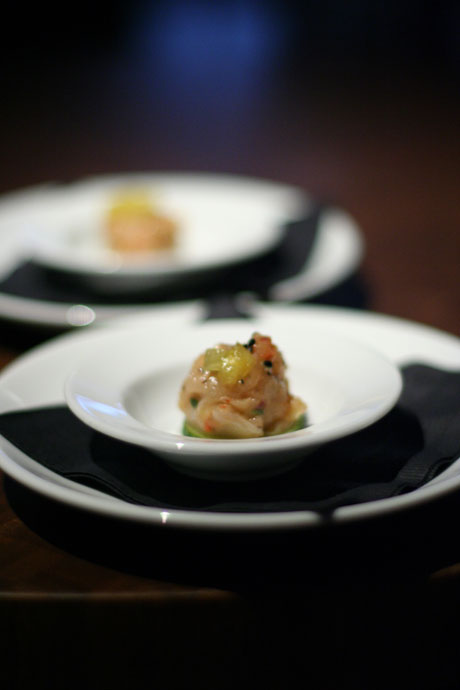 Amuse bouche, a little complimentary appetizer created by their chef.
