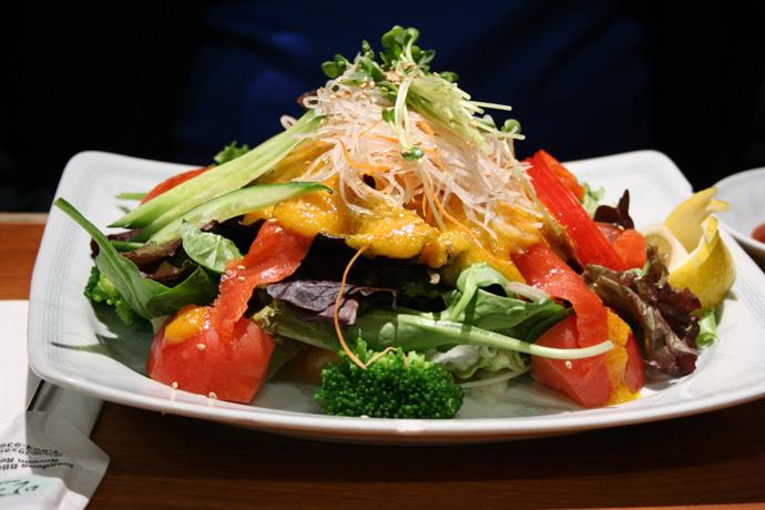Smoked Salmon Salad ($7.99) from Insadong Restaurant