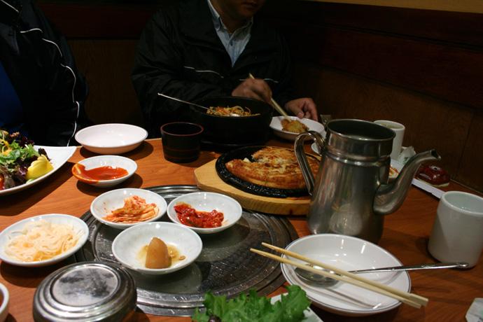 Korean food from Insadong Korean Restaurant in Coquitlam BC Canada.