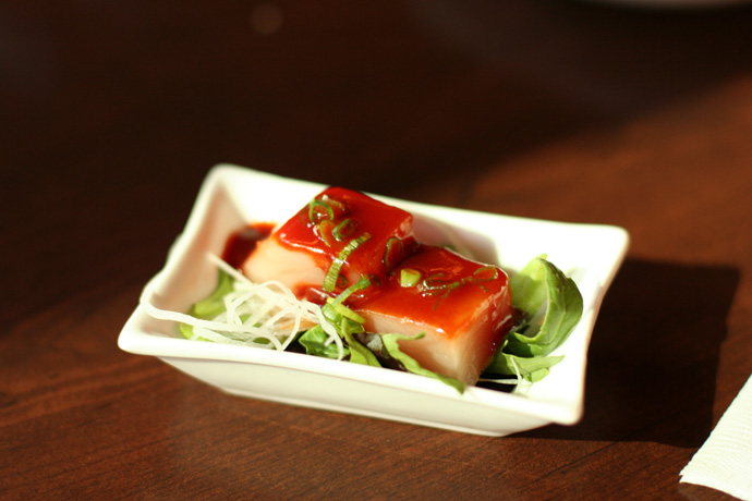 A taste of Spicy Tuna from Irashai Grill.