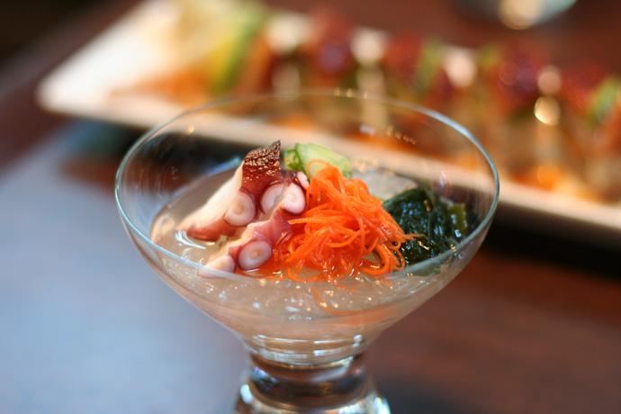 Tako Sunomono Salad ($7.50) from Irashai Grill in Vancouver BC Canada.