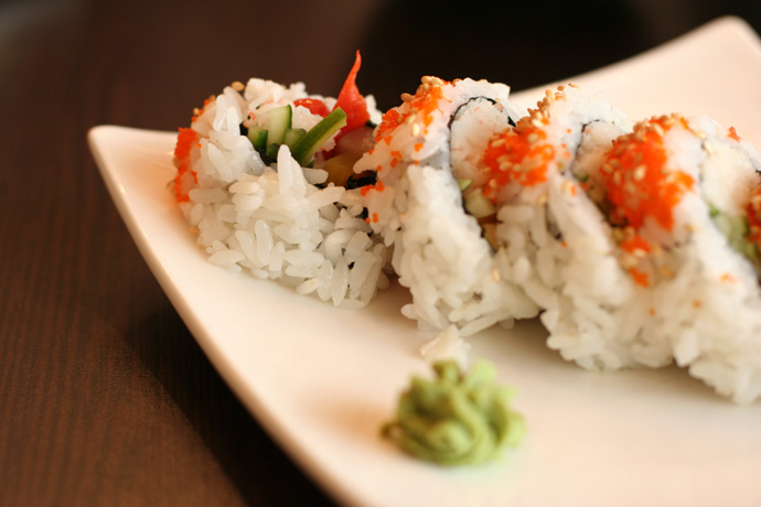 Another shot of the 1/2 Kishu Roll from Junsei River Japanese Restaurant in Vancouver.