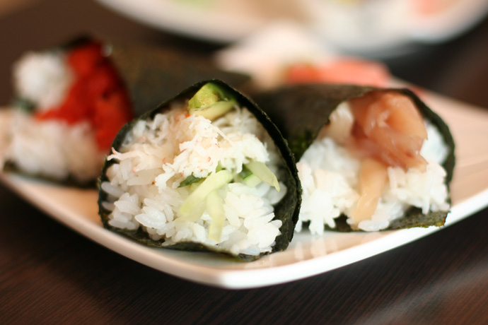 Cone combo (Japanese sushi food), from Junsei River Japanese Restaurant ($6.25)