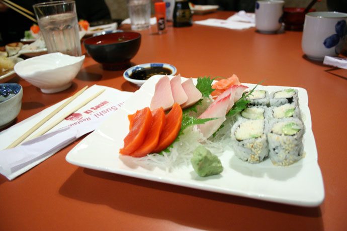 Another photo of the Sashimi Dinner from Ki Sushi (formerly Kirin Sushi) in New Westminster.