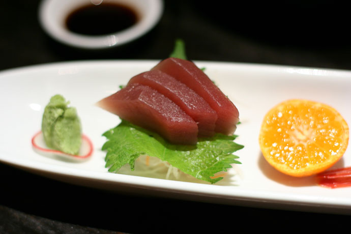 Three kinds of Japanese sashimi from Kingyo ($18)