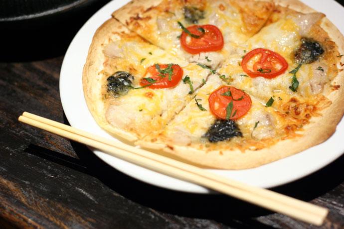 Japanese Tuna Pizza (with chopsticks?) - $7.80