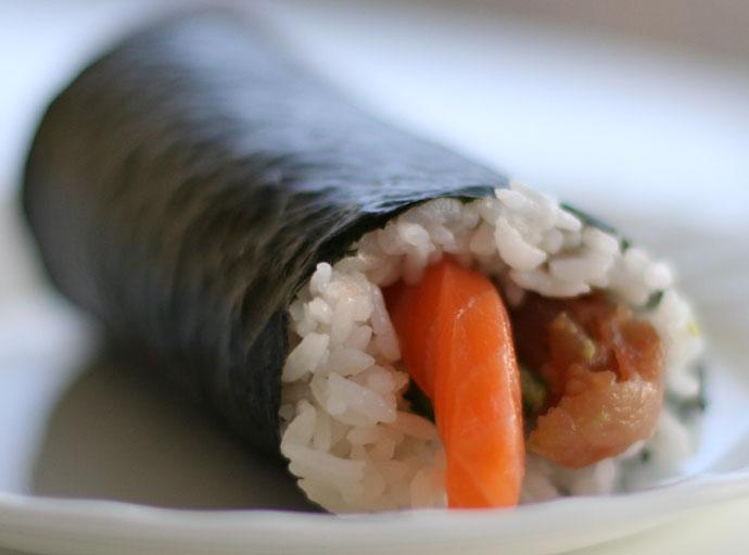Sushi roll burrito (Japanese fast food)