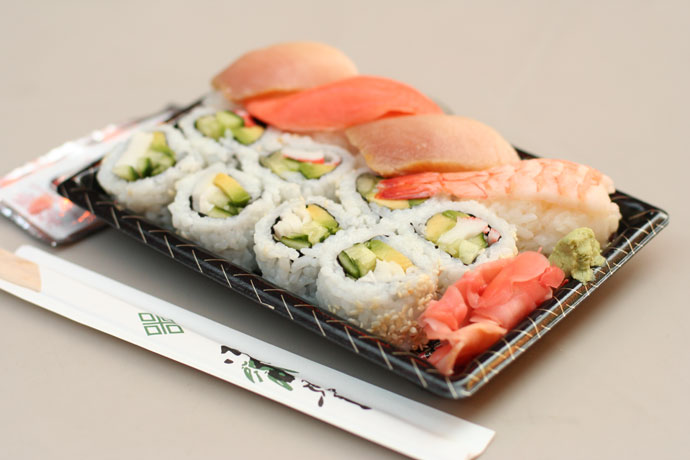 Sushi from Asahi Bubble Tea and Japanese Food ($9.95)