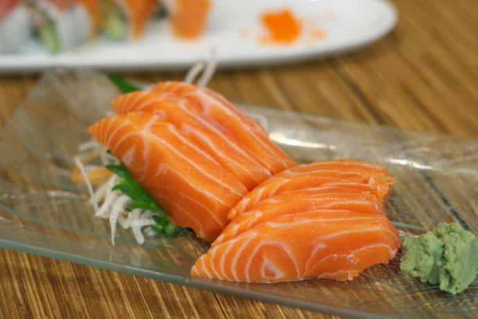 Salmon sashimi from Nikkyu Japanese Restaurant.