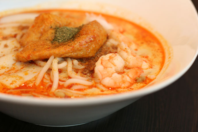 A Singaporean dish, the Laksa Prawns ($9.50)