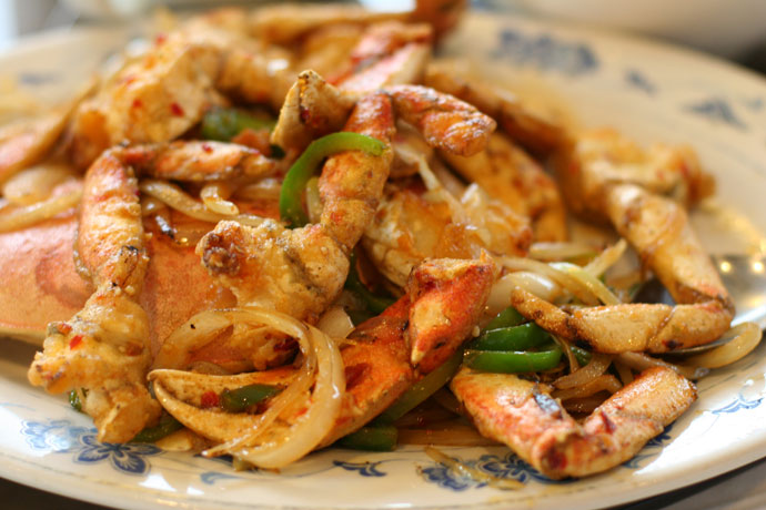 Hot and spicy crab, prepared Chinese style