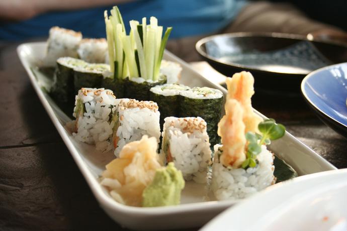Vegetarian Sushi Combo from Sai-Z Japanese Tapas restaurant in Vancouver.