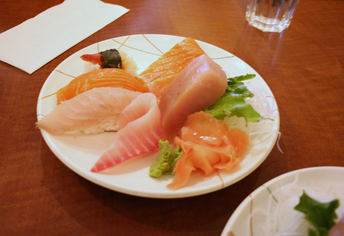 Sushi and sashimi in Vancouver