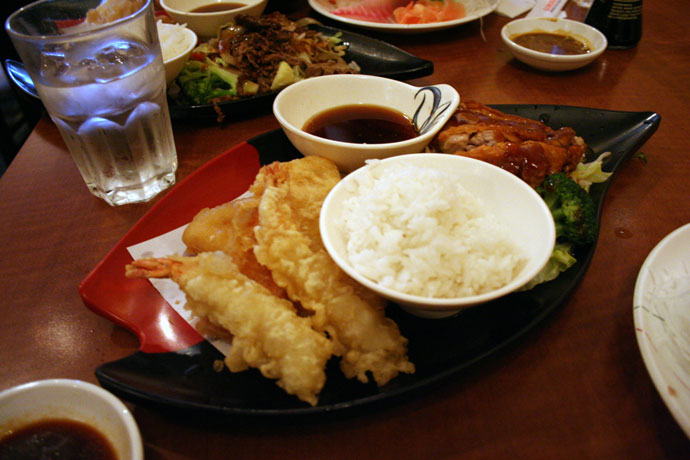 Teriyaki and Tempura from Samurai Japanese restaurant