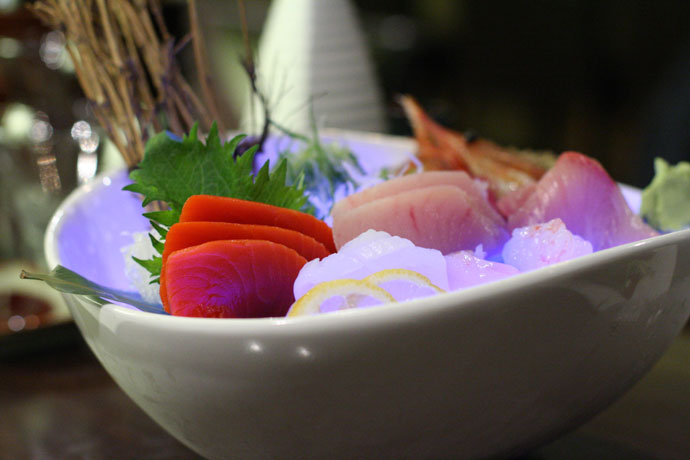 5 kinds of Sashimi ($24) from ShuRaku Japanese Restaurant in Vancouver, BC, Canada.