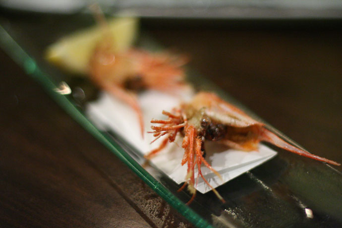 Deep fried prawn (came with Sashimi) from ShuRaku Japanese Restaurant in Vancouver.