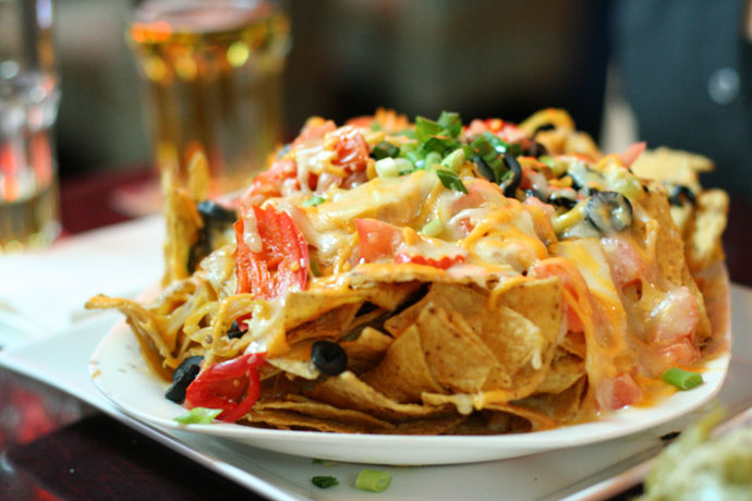 Nachos from the Speakeasy on Granville (pub in downtown Vancouver).