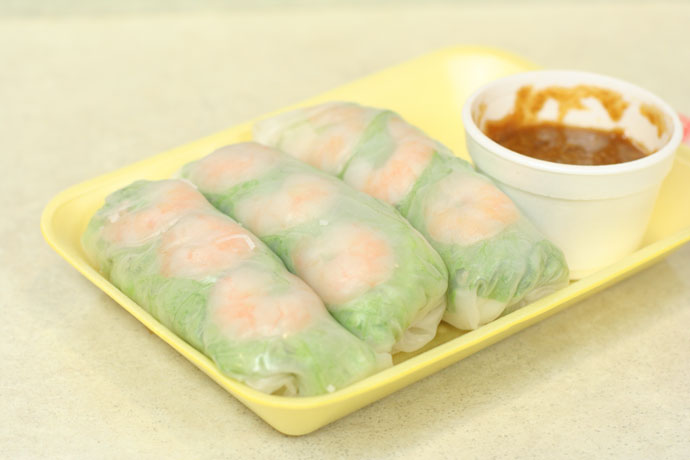 Vietnamese Salad Rolls ($5.00) from Tnt Super market in Vancouver, BC, Canada.