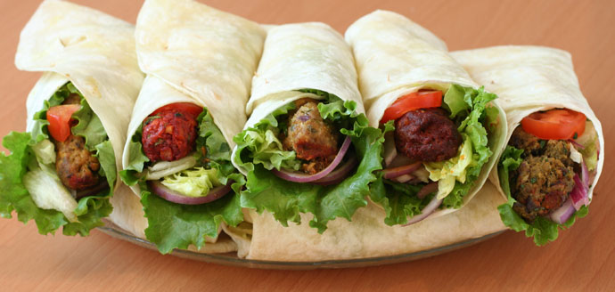 Wraps from Tandoori Delight foods in Vancouver