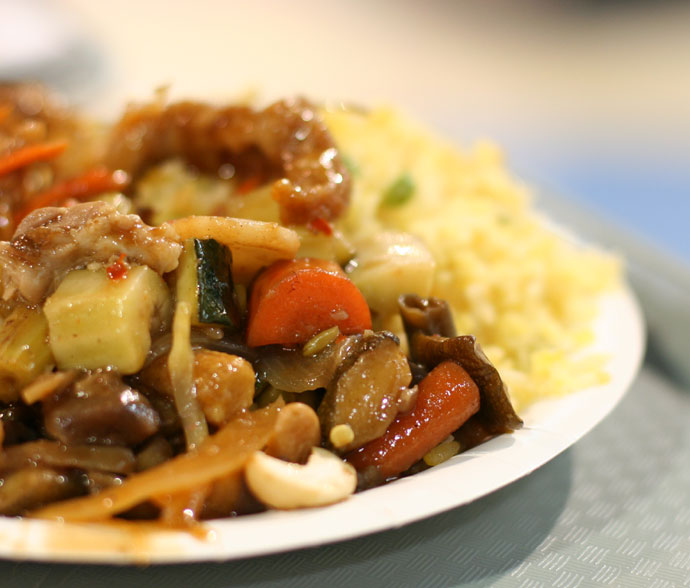 Thai fast food from the food court at Tinseltown.