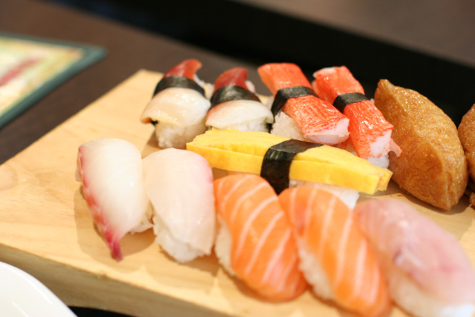 Assorted Nigiri Sushi from Toyama All You Can Eat Sushi restaurant downtown.
