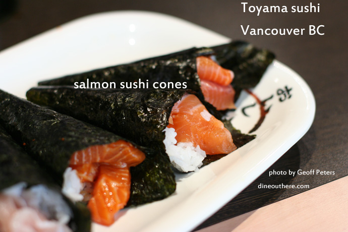 Sushi cones from Toyama Sushi - All You Can Eat Japanese restaurant downtown