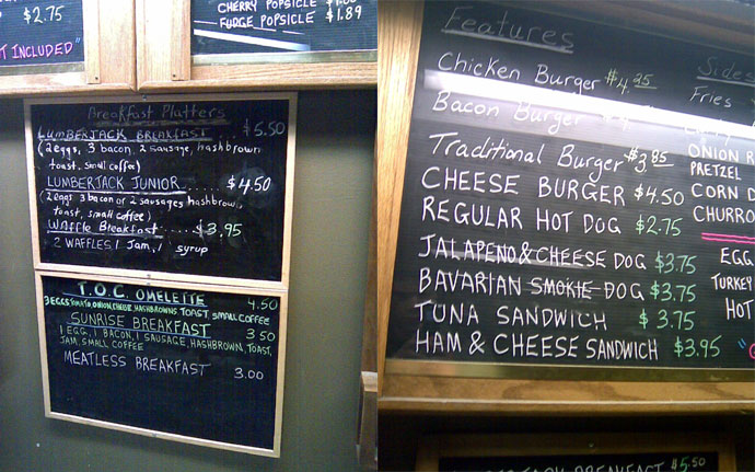 Vancouver flea market cafeteria menu